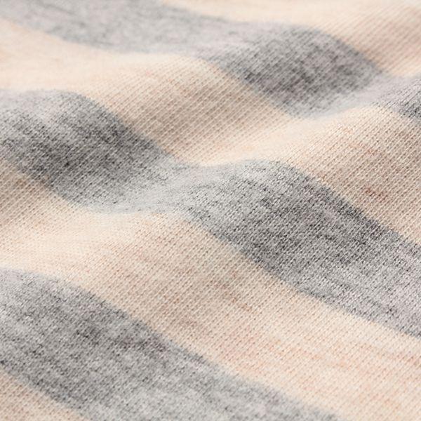 オーガニックコットン ボーダーメロウ首天竺長袖Tシャツ 商品画像 (1)