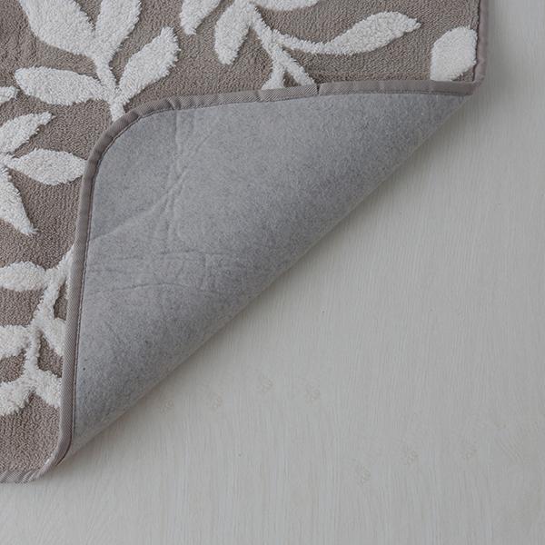 HOME COORDY ボアジャカードフロアラグ リーフ柄 商品画像 (3)