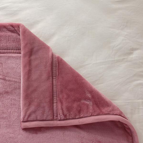 HOME COORDY 極細繊維無地2枚合わせ毛布 商品画像 (1)