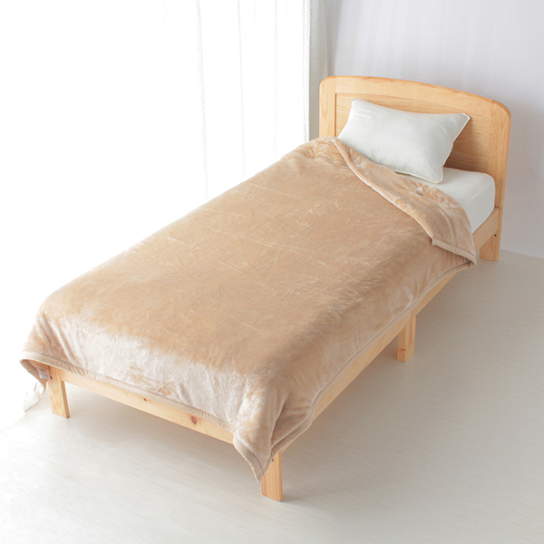 HOME COORDY 極細繊維無地2枚合わせ毛布 商品画像 (メイン)