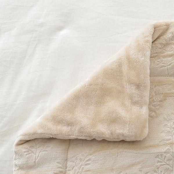 HOME COORDY 保湿ガーデン柄毛布 商品画像 (1)