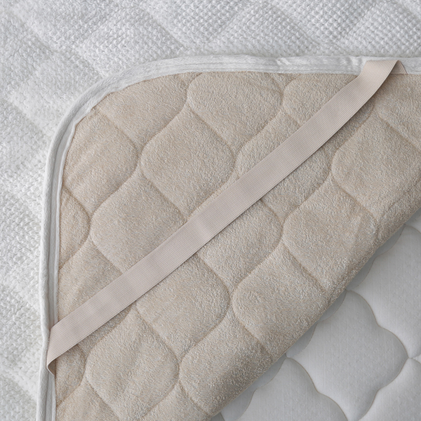 HOME COORDY ワッフル起毛とオーガニックコットンパイルリバーシブル敷パッド 商品画像 (2)
