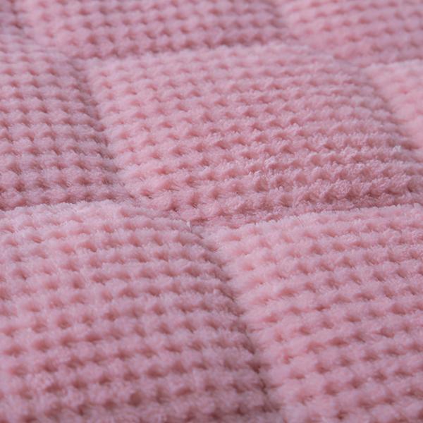 HOME COORDY ワッフル起毛とオーガニックコットンパイルリバーシブル敷パッド 商品画像 (3)