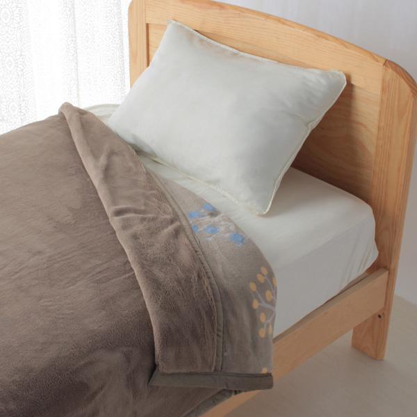 HOME COORDY ノースボタニカル柄厚手2枚合せ毛布 商品画像 (1)