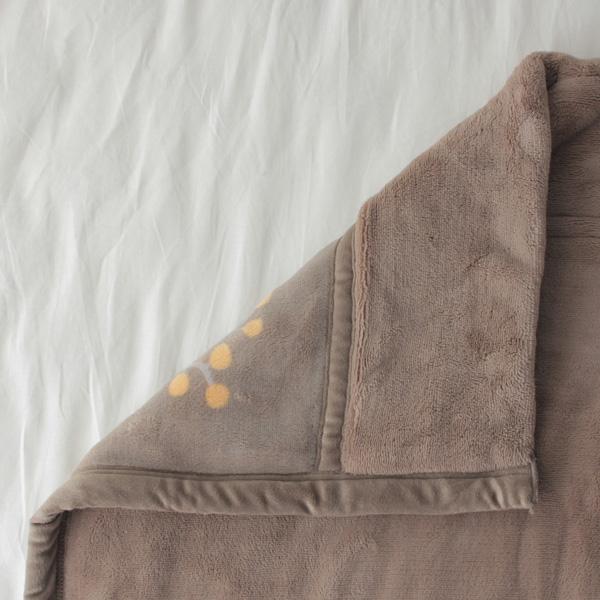 HOME COORDY ノースボタニカル柄厚手2枚合せ毛布 商品画像 (2)
