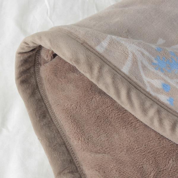 HOME COORDY ノースボタニカル柄厚手2枚合せ毛布 商品画像 (4)