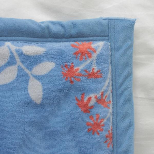 HOME COORDY ノースボタニカル柄厚手2枚合せ毛布 商品画像 (3)