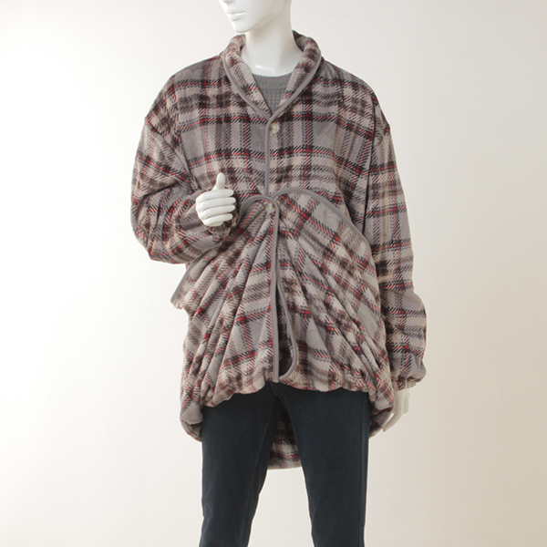 HOME COORDY ラージチェック柄着る毛布 商品画像 (0)