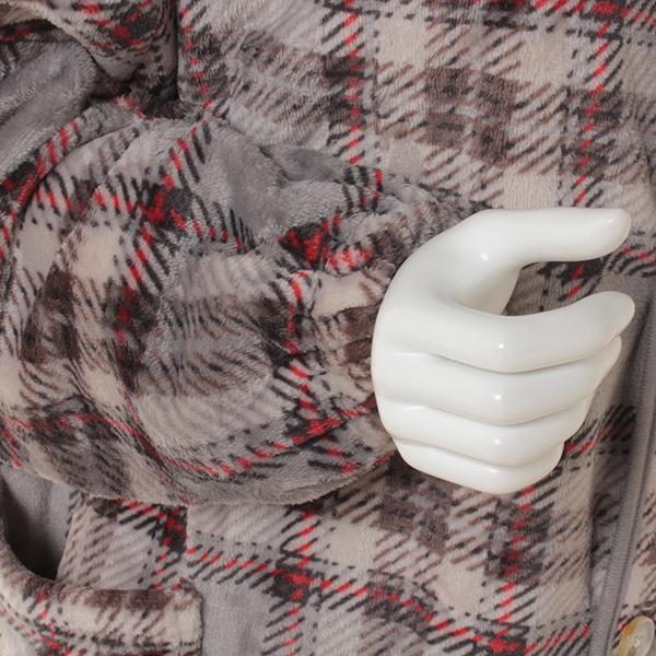 HOME COORDY ラージチェック柄着る毛布 商品画像 (1)