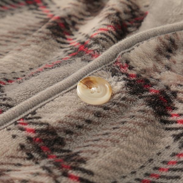 HOME COORDY ラージチェック柄着る毛布 商品画像 (4)
