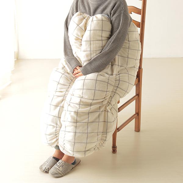 HOME COORDY ウィンドウペイン柄ロール毛布 商品画像 (0)