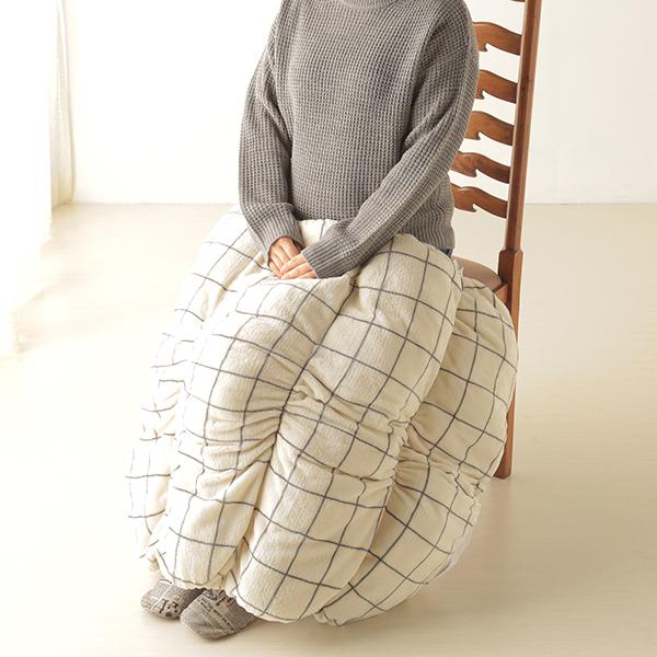 HOME COORDY ウィンドウペイン柄ロール毛布 商品画像 (2)