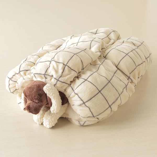 HOME COORDY ウィンドウペイン柄ロール毛布 商品画像 (3)