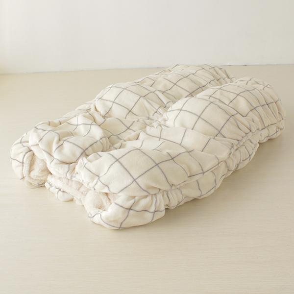 HOME COORDY ウィンドウペイン柄ロール毛布 商品画像 (メイン)