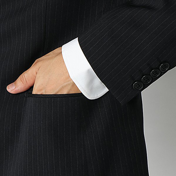 マジ楽 ストレッチコンフォート ツータックメンズスーツ 商品画像 (2)
