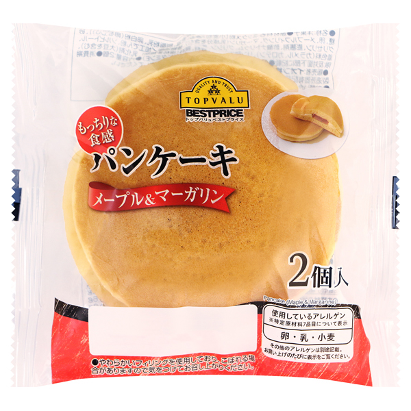 もっちりな食感 パンケーキ メープル&マーガリン