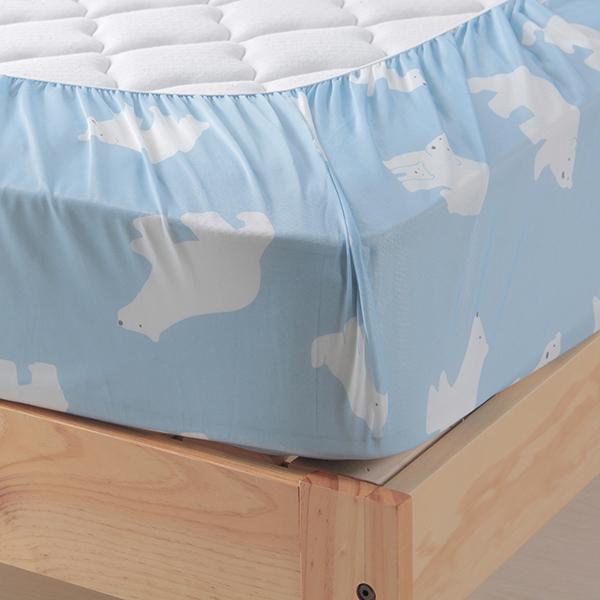 シロクマ柄ベッド用ワンタッチシーツ HOME COORDY 商品画像 (3)