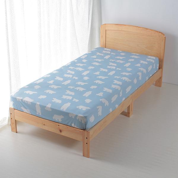 シロクマ柄ベッド用ワンタッチシーツ HOME COORDY