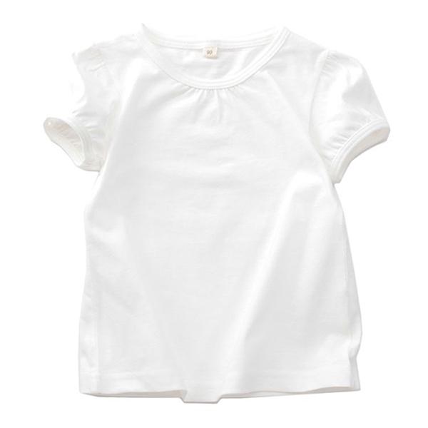オーガニックコットン 無地パフスリーブTシャツ