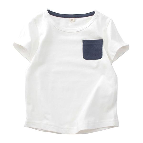 オーガニックコットン ポケ付無地半袖Tシャツ
