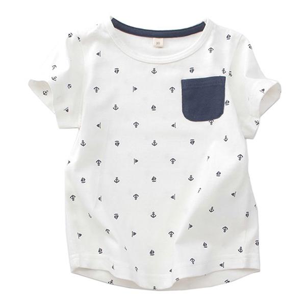 オーガニックコットン 総柄半袖Tシャツ
