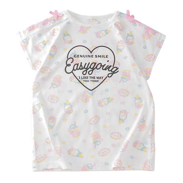 くーるっち 肩リボン総柄Tシャツ 商品画像 (メイン)