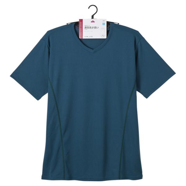 BODY SWITCH ハニカムメッシュ半袖VネックTシャツ 商品画像 (1)