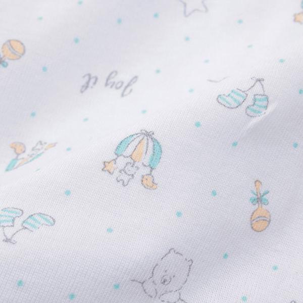 オーガニックコットンブレンド フライス編み 短肌着2枚組 商品画像 (1)
