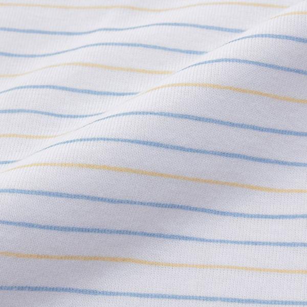 オーガニックコットンブレンド フライス編み 半袖前開きボディースーツ2枚組 商品画像 (2)