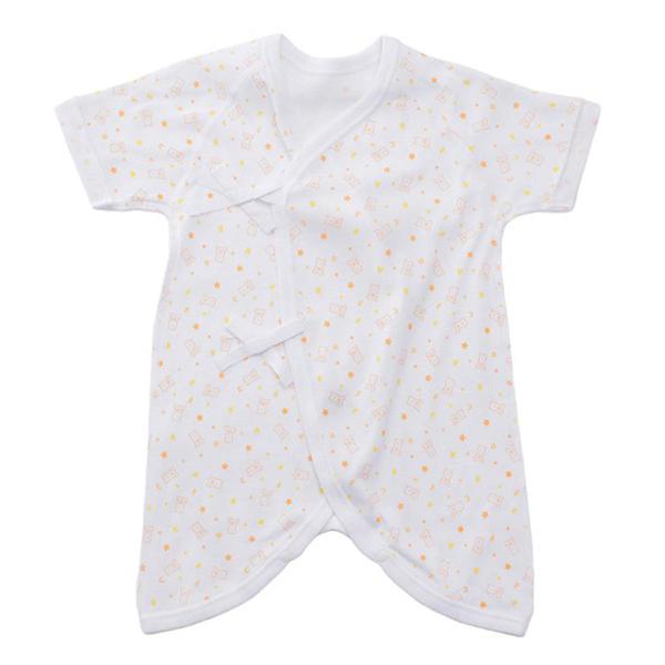 オーガニックコットンブレンド フライス編み 新生児肌着5点セット 商品画像 (0)