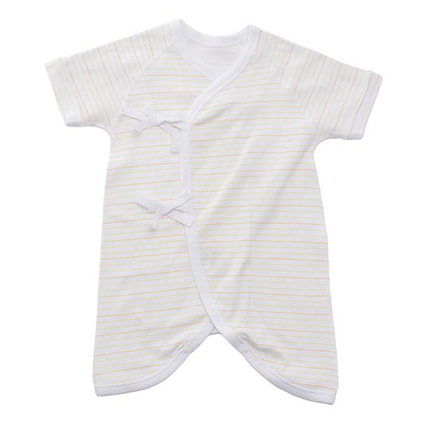 オーガニックコットンブレンド フライス編み 新生児肌着5点セット 商品画像 (1)