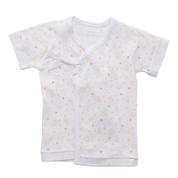 オーガニックコットンブレンド フライス編み 新生児肌着5点セット 商品画像 (2)