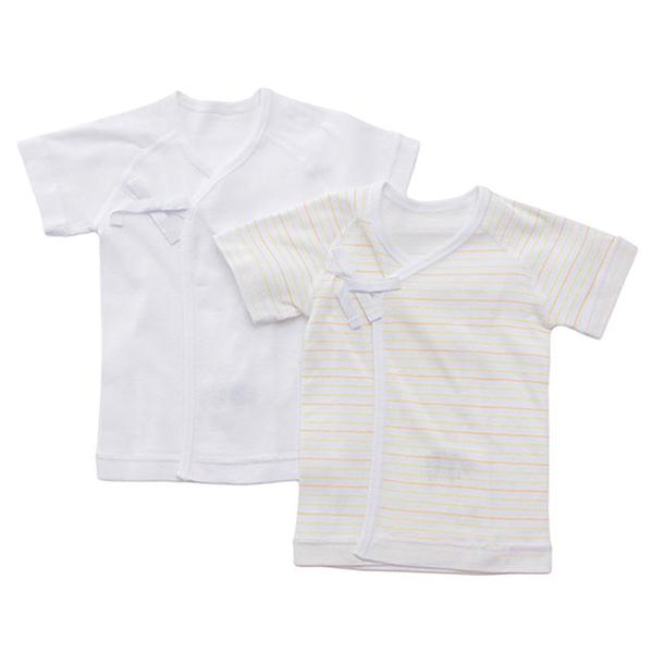 オーガニックコットンブレンド フライス編み 新生児肌着5点セット 商品画像 (3)