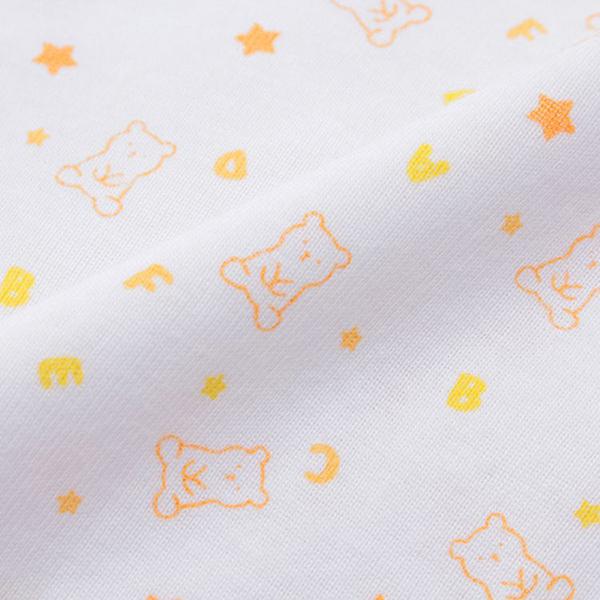 オーガニックコットンブレンド フライス編み 新生児肌着5点セット 商品画像 (4)