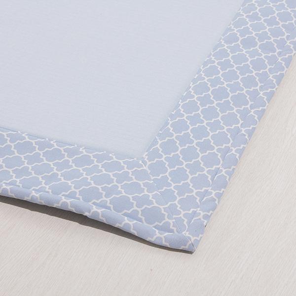 接触冷感 ヘムプリントフロアラグ 185×185cm(約2畳相当) HOME COORDY COLD 3 HOME COORDY 商品画像 (0)