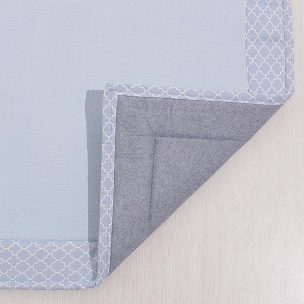 接触冷感 ヘムプリントフロアラグ 185×185cm(約2畳相当) HOME COORDY COLD 3 HOME COORDY 商品画像 (3)