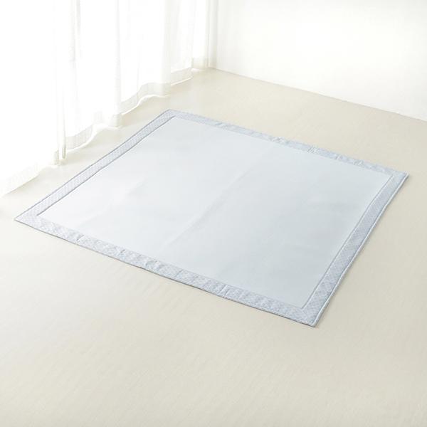 接触冷感 ヘムプリントフロアラグ 185×185cm(約2畳相当) HOME COORDY COLD 3 HOME COORDY 商品画像 (4)