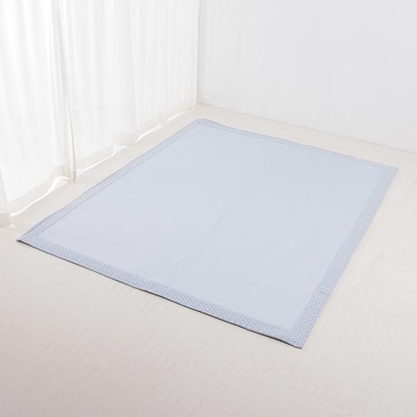 接触冷感 ヘムプリントフロアラグ 185×185cm(約2畳相当) HOME COORDY COLD 3 HOME COORDY 商品画像 (メイン)