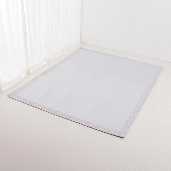接触冷感 ヘムプリントフロアラグ 130×185cm (約1.6畳相当) HOME COORDY COLD 3 HOME COORDY