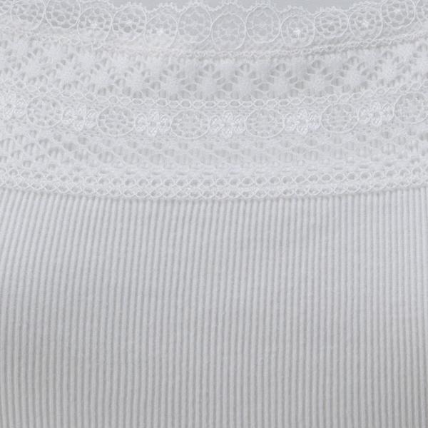 オーガニックコットン 胸元レースタンクトップ 商品画像 (2)