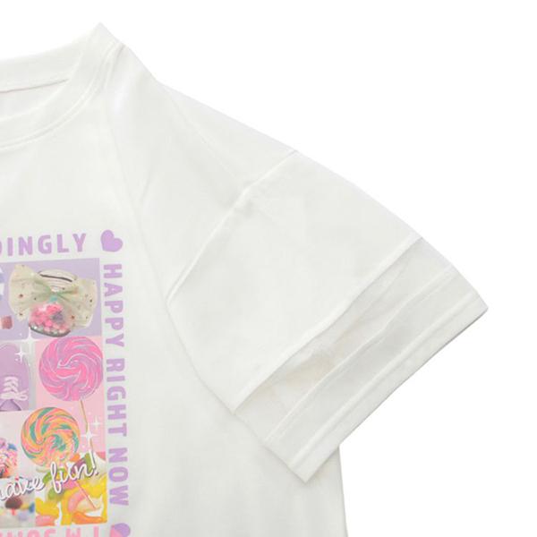 くーるっち 袖メッシュ切替Tシャツ 商品画像 (2)