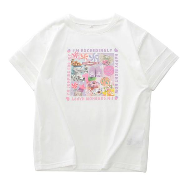 くーるっち 袖メッシュ切替Tシャツ