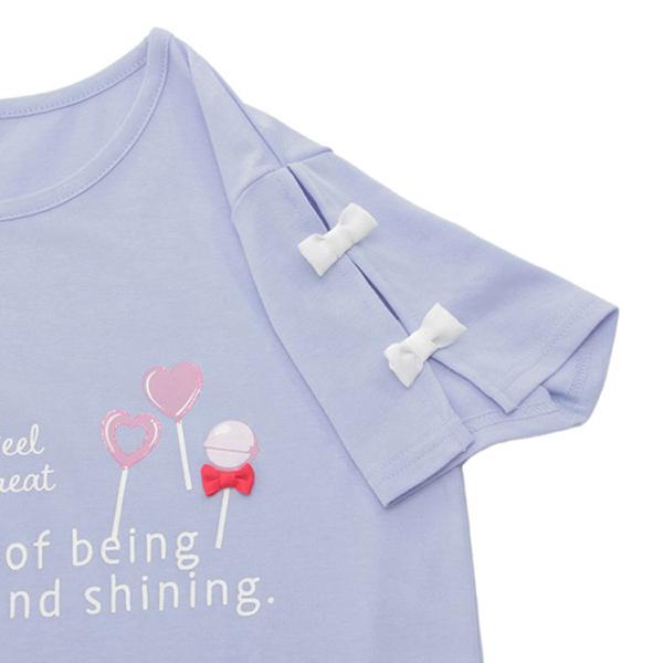 くーるっち 袖リボン付Tシャツ 商品画像 (2)