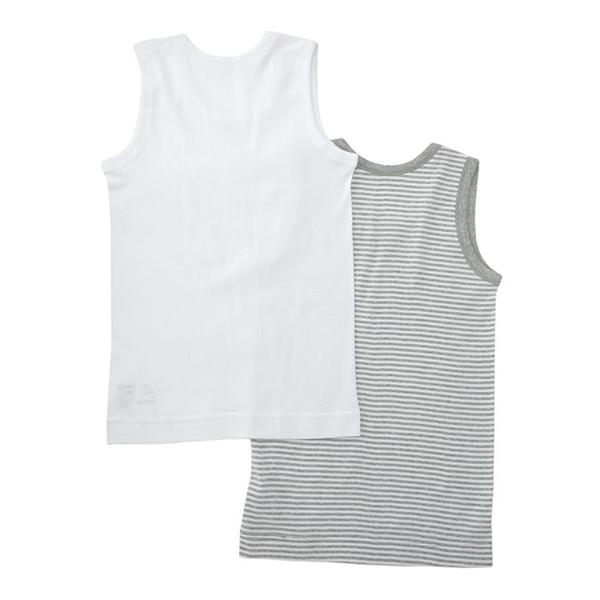 男児トドラーオーガニック綿100% ランニング2枚組 商品画像 (0)