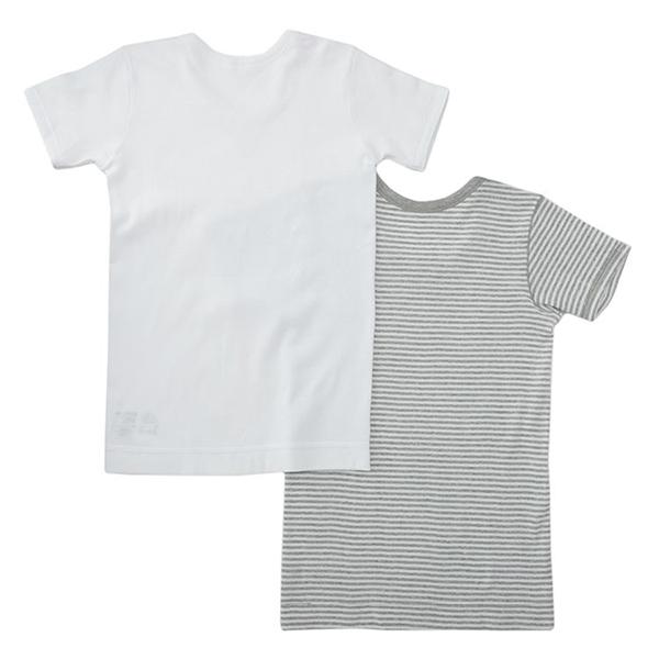 男児トドラーオーガニック綿100% 半袖2枚組 商品画像 (0)