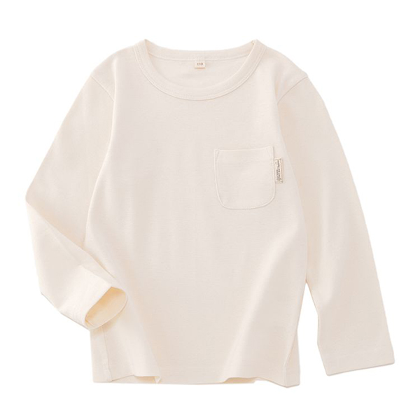 オーガニックコットン のびのび長袖Tシャツ