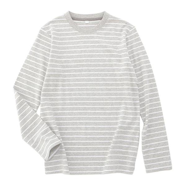 オーガニックコットン クルーネックボーダーTシャツ 商品画像 (メイン)