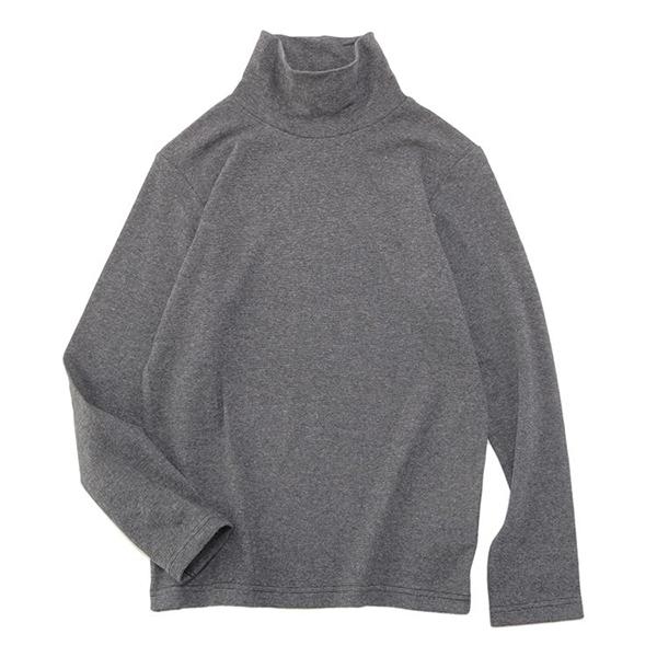 オーガニックコットン タートルネックTシャツ