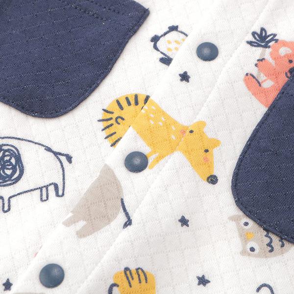 オーガニックコットンブレンド キルト編み ドレス 商品画像 (1)