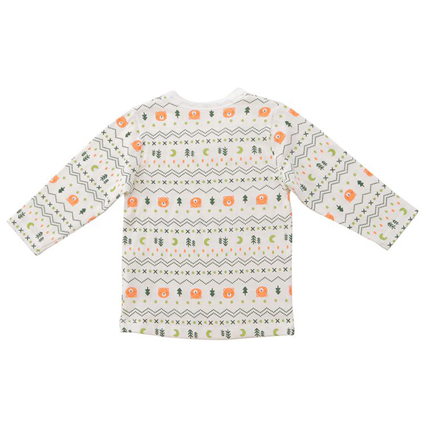オーガニックコットンブレンド 接結天竺長袖シャツ 2枚よりどり本体価格1280円 商品画像 (0)